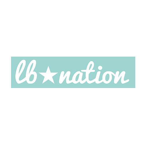 LB★Nation ロゴ カッティングステッカー White