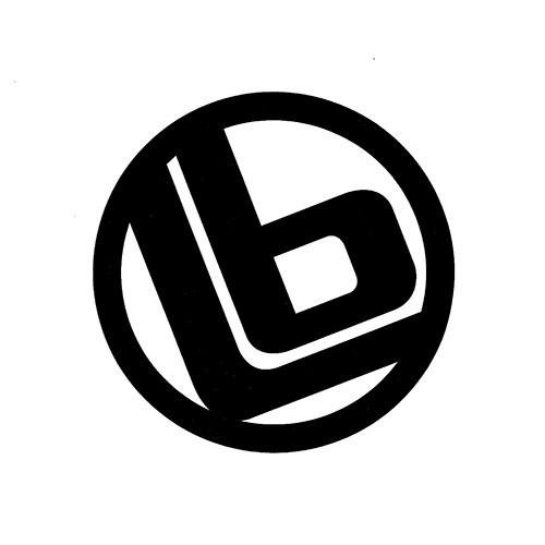 LB リング 大 ステッカー Black