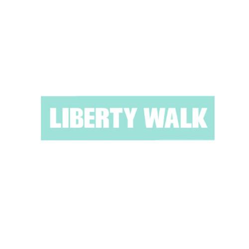 LIBERTY WALK ステッカー White