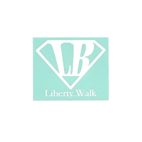 LB Diamond LIBERTYWALK logo ステッカー White