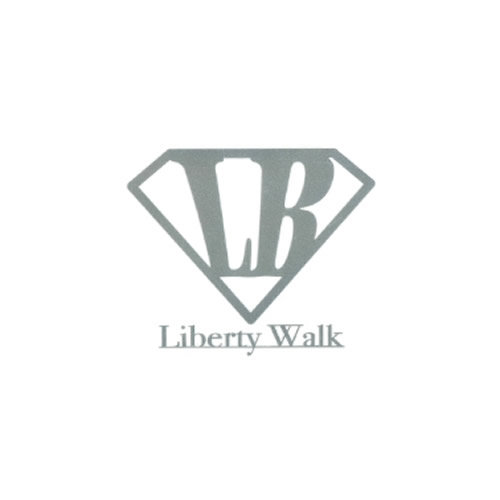 LB Diamond LIBERTYWALK logo ステッカー Silver
