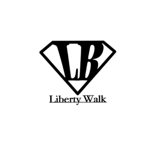 LB Diamond LIBERTYWALK logo ステッカー Black