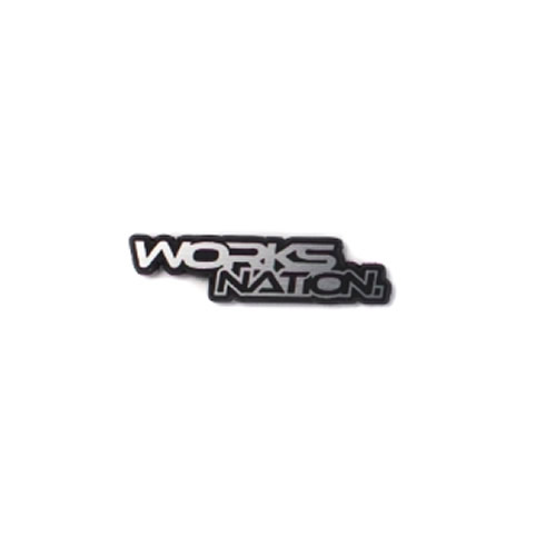 LBエンブレム小 WORKS NATION Silver