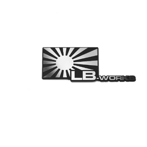 LBエンブレム LB WORKS日章 Silver