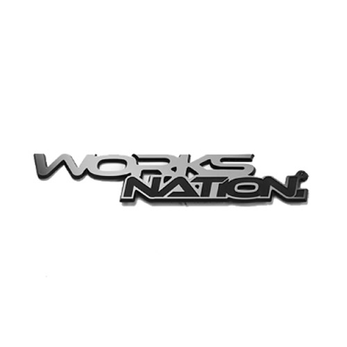 LBエンブレム WORKS NATION Logo Silver