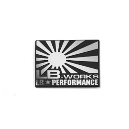 LBエンブレム LB WORKS日章 BOX Silver