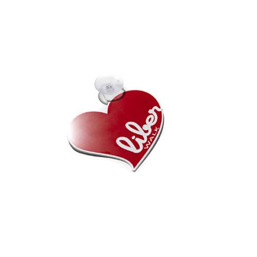 LB HEART 吸盤プレート Red