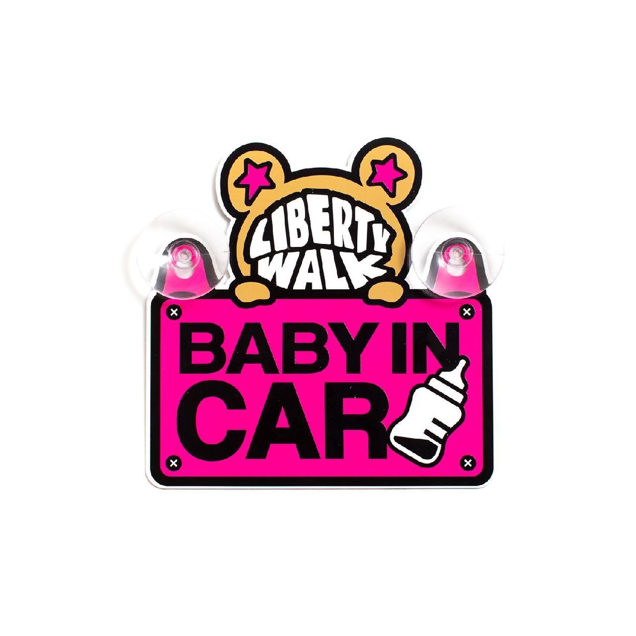 LB-KUMA BABY IN CAR プレート Pink