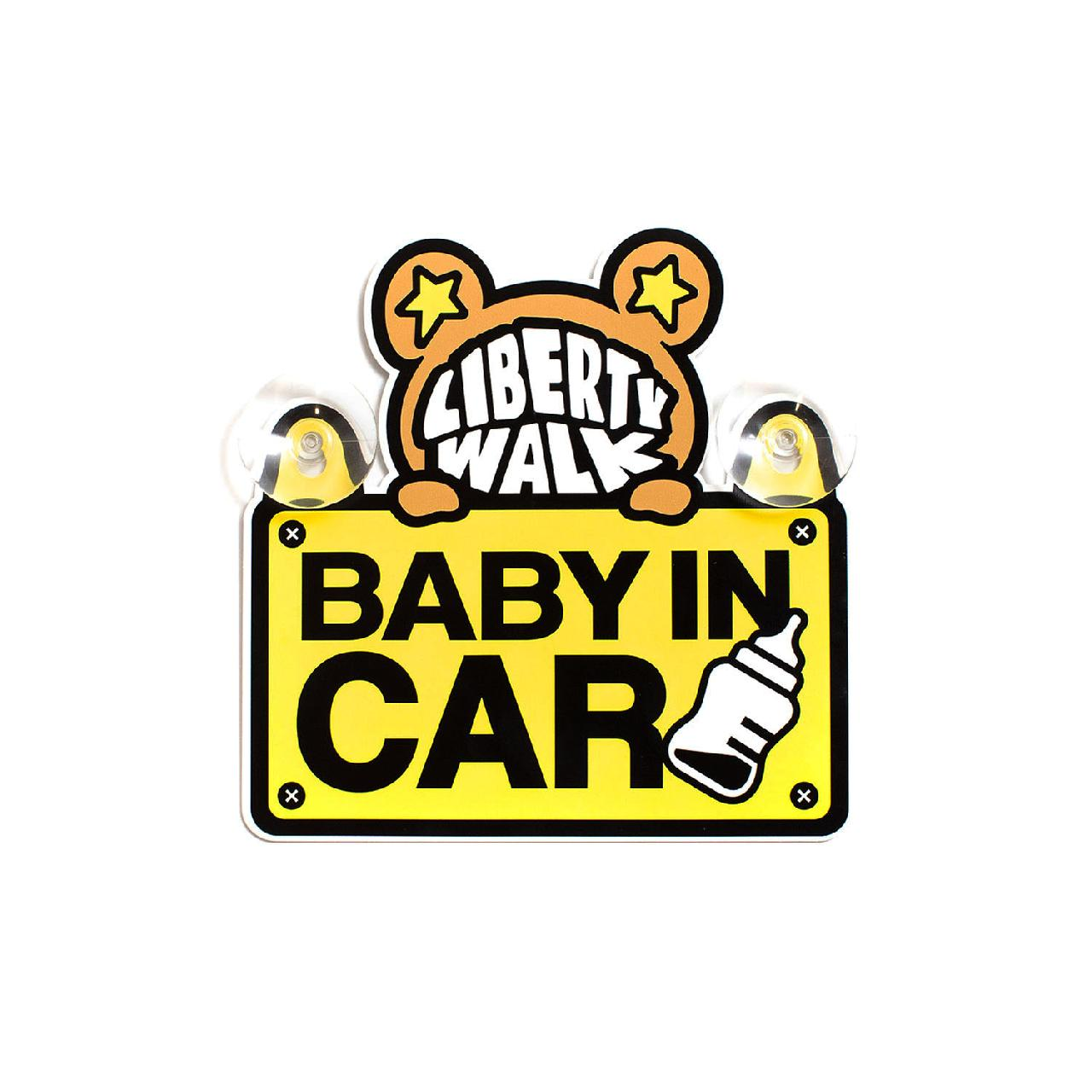 LB-KUMA BABY IN CAR プレート Yellow