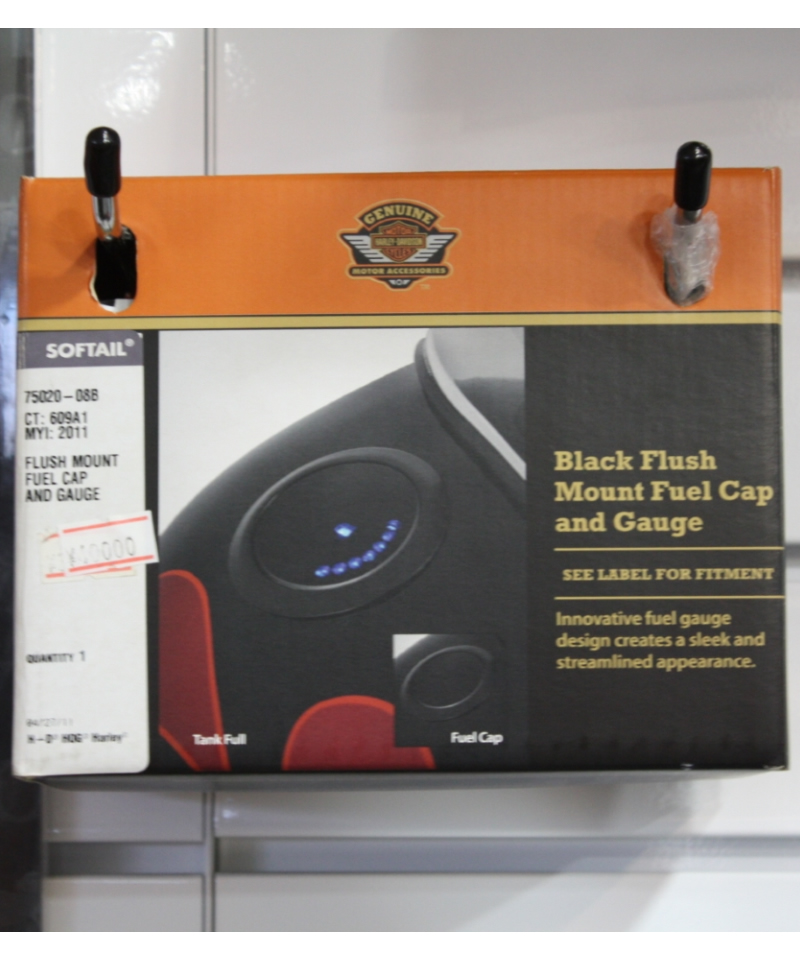 Black Flush Mount Fuel Cap and Gauge