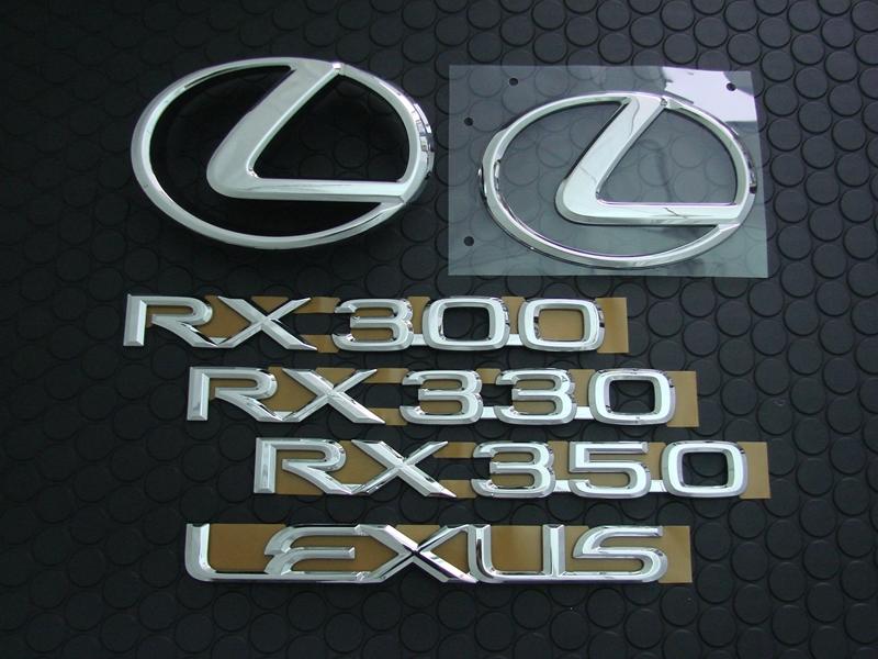RX300/330/350 EMBLEM SET(カメラ無)