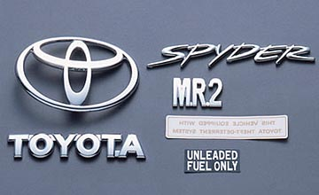 MR2 SPYDER EMBLEM SET