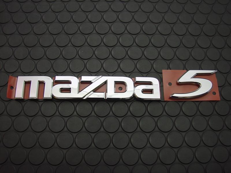 MAZDA 5 REAR EMBLEM
