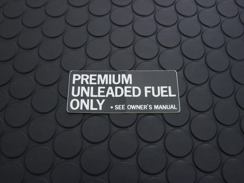 FUEL CAUTION LABEL