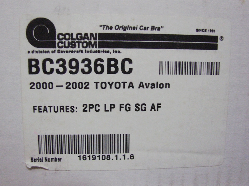 TOYOTA AVALON COLGAN CUSTOM Original Bra(BK)