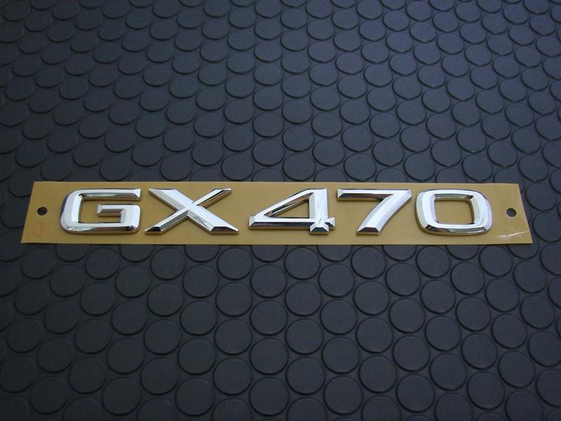 GX470 REAR EMBLEM