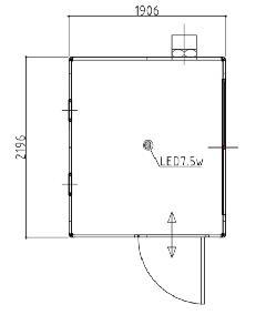 喫煙室 S-0 1906×2196