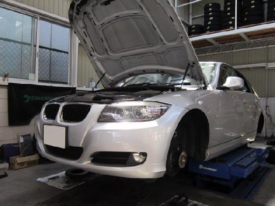 BMW 320  リアフェンダー バンパー 施工例