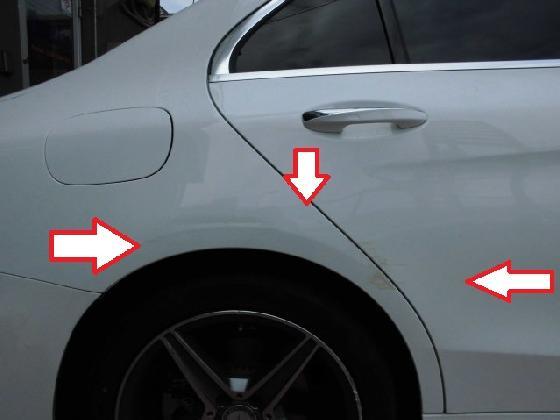 ベンツC W205 ドア リアフェンダー フロントバンパー