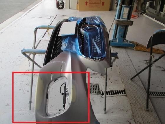 メルセデス ベンツ Eクラス W238 バンパー修理
