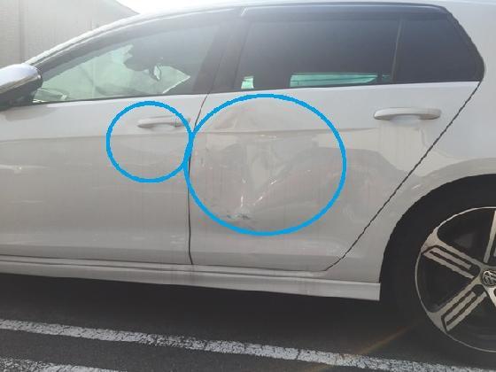 VW ゴルフ ヘコミ