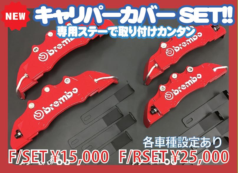 キャリパーカバー  F&R 【税抜25000円】