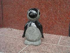 ペンギンのアートストーン