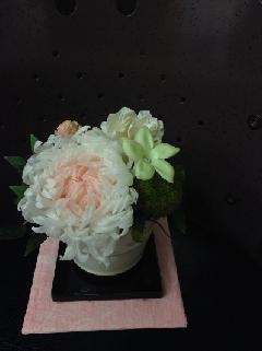 大輪菊のお供え用プリザ