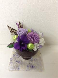 お供え用プリザ・紫