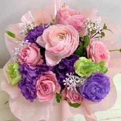 ピンクと紫のブーケ