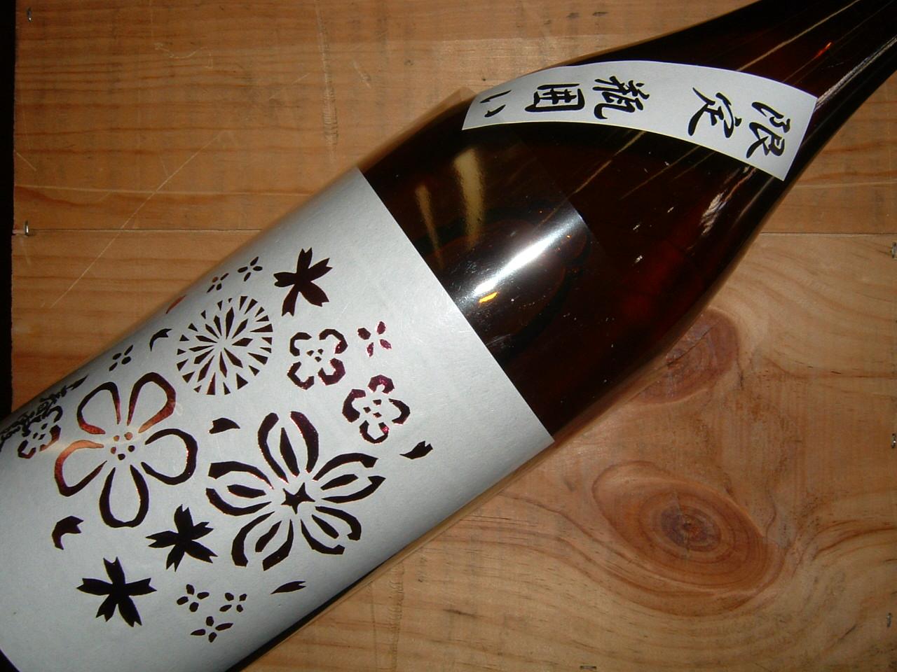 春霞純米酒限定瓶囲い花ラベル1800ml