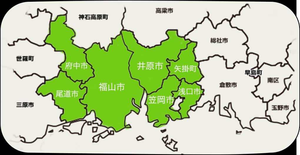 対応地域map