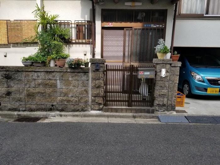 既存ブロック塀