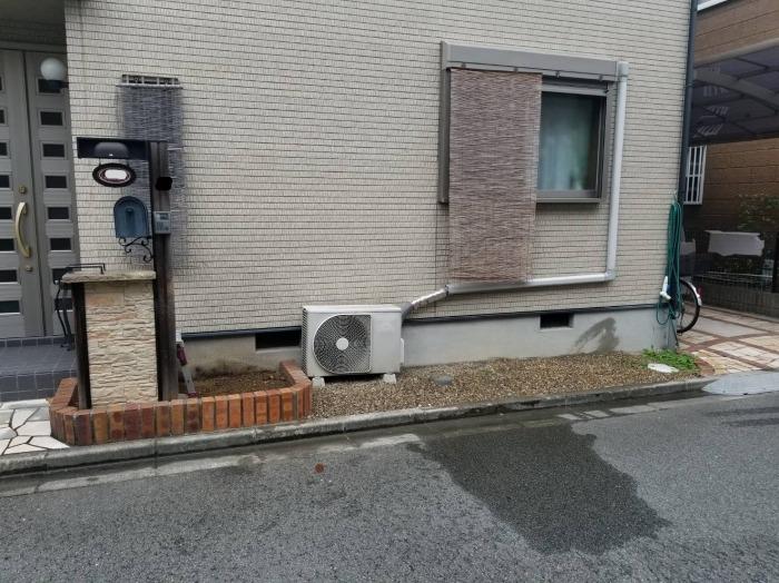 入り口附近ブロック壁撤去