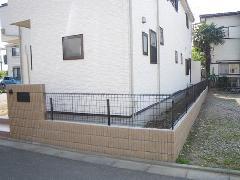家まわり 塀 フェンス設置
