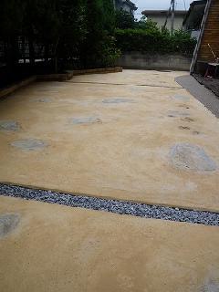 カラーコンクリート舗装、樹脂舗装