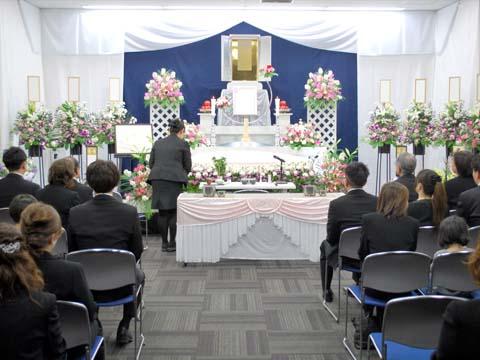 小林斎場の祭壇