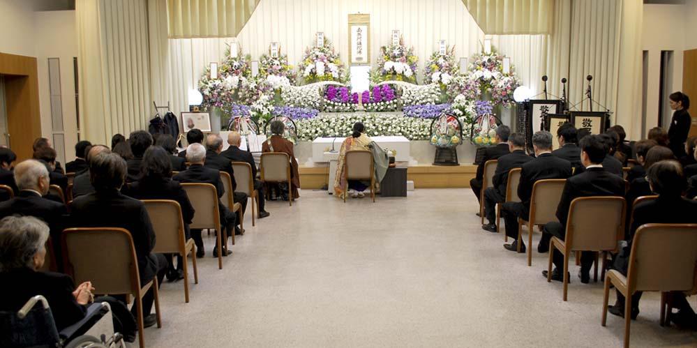 堺市立斎場 大式場での葬儀