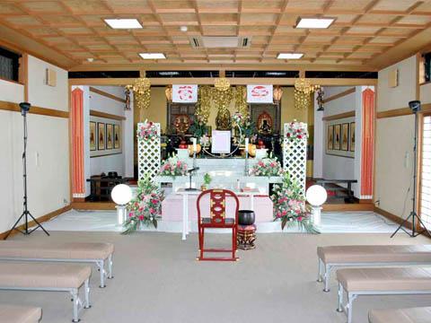 安養寺の式場