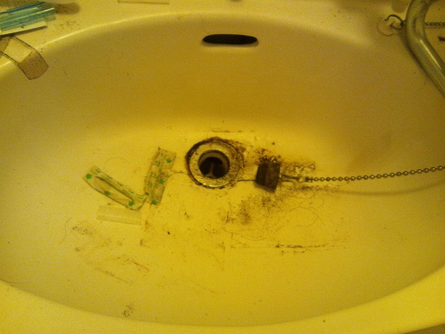 洗面台 清掃前