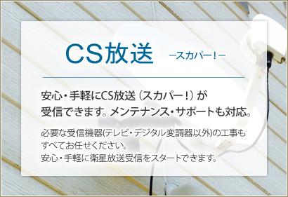 CS放送 スカパー