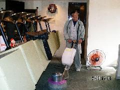 店舗床 クリーニング洗浄