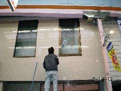 高所ガラス清掃