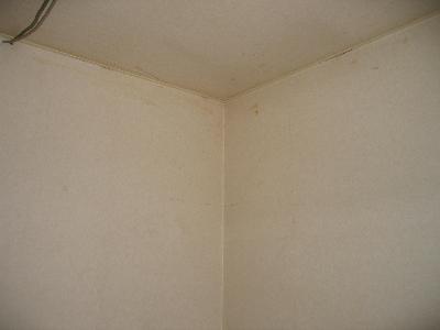壁や天井クロスが黄色く変色そして嫌なニオイというか臭い!