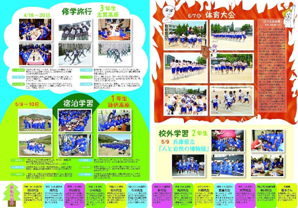 尼崎市立中央中学校PTA新聞「あすなろ」18号 (表2-3)