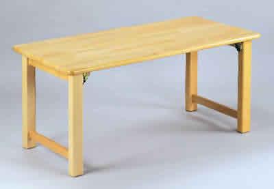 AE-60-d 角テーブル120×60 角脚折畳<H51> 室内家具・遊具