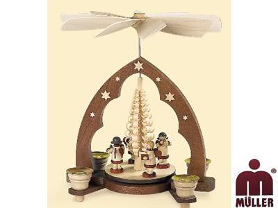 10204  天使の楽団 もみの木 1層【ドイツ伝統工芸】