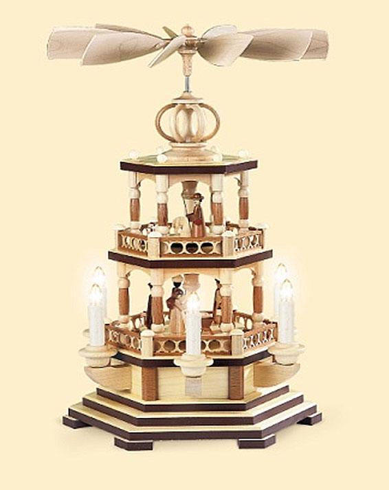 10452  聖書物語2層電球【ドイツ伝統工芸】