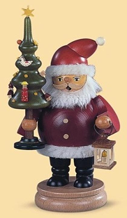 16130  サンタとツリー【ドイツの伝統工芸・お香・煙だし人形】