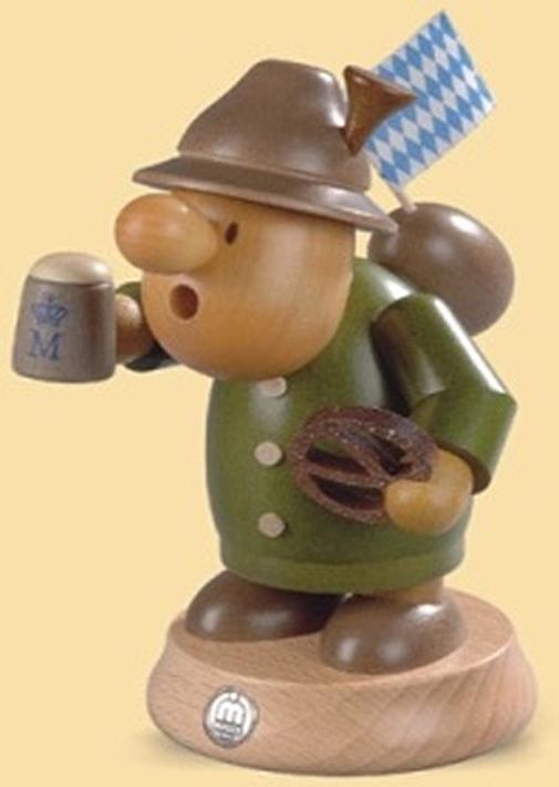 16480  小さな煙だし人形 ババリア人 【ドイツの伝統工芸・お香】